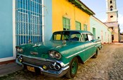 1958 Classic Chevy Car, Trinidad Cuba