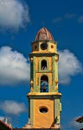 Beautiful color steeple in church, Trinidad, Cuba