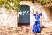 African Dancer in Old Colonial Village, Trinidad, Cuba