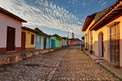 Early morning view of streets in Trinidad, Cuba