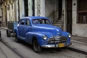 1950's era blue car, Havana Cuba