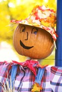 WA, Chelan, Halloween holiday Scarecrow