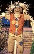 Scarecrow in Suburban Yard at Halloween, Logan, Utah