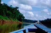 Canoe on the Tambopata River, Peruvian Amazon, Peru