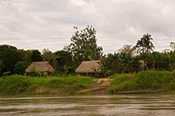 Indian Village on Rio Madre de Dios, Amazon River Basin, Peru