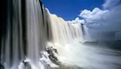 Towering Igwacu Falls Drops into Igwacu River, Brazil
