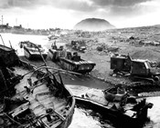 Wreckage During The Battle of Iwo Jima