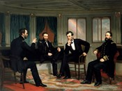 Civil War Painting of The Peacemakers