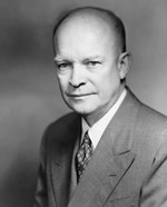 Vector Portrait of Dwight D Eisenhower