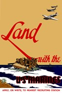 Land with the U.S.  Marines