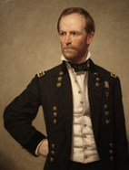 Union Civil War General William Tecumseh Sherman (color)