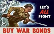 Buy War Bonds - Let's All Fight