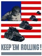 Keep 'Em Rolling! - Tanks Over Flag