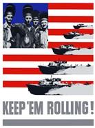 Keep 'Em Rolling! - Ships Over Flag