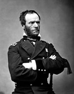 Digitally Restored Vector Portrait of General Sherman