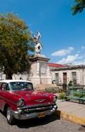 1957 Chevy car parked downtown, Mantanzas, Cuba