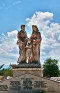 Beautiful Tomas Acea Cemetery in city with statues, Cienfuegos, Cuba