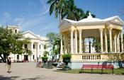Gazebo in center of downtown, Santa Clara, Cuba