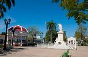 Jose Marti Square and statue in center of town, Cienfuegos, Cuba