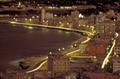 Malecon at Night, Havana, Cuba