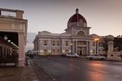 Cuba, Cienfuegos, Palacio de Gobierno, Dusk