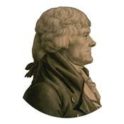 Digitally Restored Portrait of Thomas Jefferson (sepia toned)