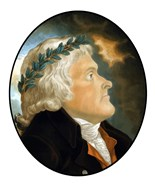 Digitally Restored Vector Artwork of Thomas Jefferson (color)