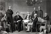 President Lincoln reading the Emancipation Proclamation to his Cabinet