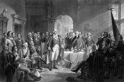 General George Washington and his Military Commanders Meeting