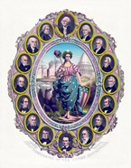 Lady Liberty and the First Sixteen Presidents