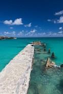Cuba, Havana, Playas del Este, Playa Jibacoa, pier