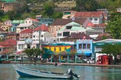 Shops, Restaurants and Wharf Road, The Carenage, Grenada, Caribbean