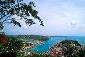 View from Mountain of St Georges, Grenada, Caribbean