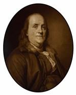 Benjamin Franklin (sepia tone)