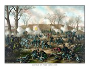 Civil War Print of The Battle of Fort Donelson