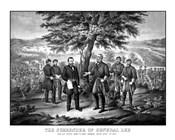 Surrender of General Robert E Lee to General Ulysses S Grant