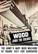 WWII Army Troops Building Barracks