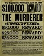 Reward Poster - Murderer of Abraham Lincoln