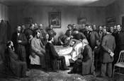President Abraham Lincoln on his Deathbed