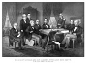 President Abraham Lincoln and His Cabinet