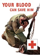 Vintage Red Cross - Your Blood Can Save Him