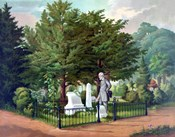 General Lee Visiting the Grave of General Thomas Jackson (color)
