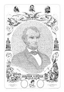 Abraham Lincoln Formed from the Words of The Emancipation Proclamation