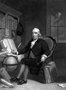 Benjamin Franklin in His Study