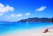 Couple Enjoying Princess Margaret Beach in Bequia, Grenadines
