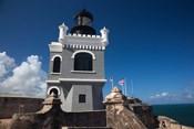 Puerto Rico, San Juan, El Morro Fortress, lighthouse