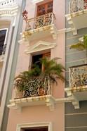 Puerto Rico, San Juan Facades of Old San Juan