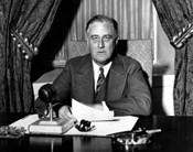 World War Two photo of President Franklin Delano Roosevelt