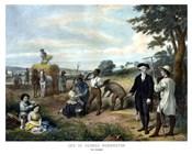 George Washington On His Farm
