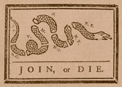 Join or Die Created by Benjamin Franklin